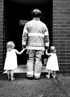 Family pictures. Firefighter.