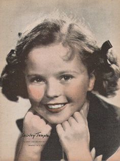Vintage Sepiatone Print of Classic Movie Star Shirley Temple
