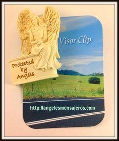 accesorios de angeles-adornos  de angeles-productos de angeles-tienda de angeles-pulseras de angeles-figuras de angeles-productos del arcangel-ritual del arcangel miguel-pulsera de los 15 arcangeles-pulsera de sanacion-Angel Visor Clip