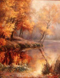 "Photo from album ""Alexey Rychkov Painting"" on autumn scenery - Trendy Landscape Photography, Art Painting, Landscape Paintings, Art Photography, Autumn Painting, Oil Painting Landscape, Painting, Autumn Scenery, Landscape Art"