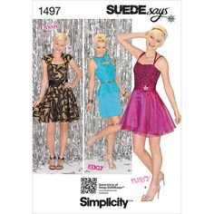 Simplicity Pattern 1497P5 12-14-16-1-Misses Special Occas