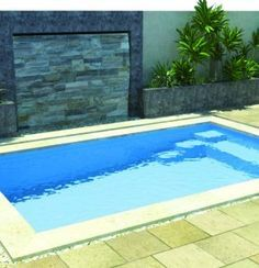 Small Pools | Aqua Technics - Swimming Pools Perth Love the rock wall behind - nice idea for privacy too.