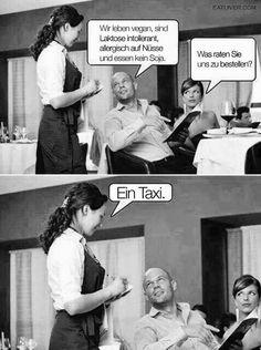Vegan laktosefrei glutenfrei lustig witzig Sprüche Server Memes, Server Humor, Memes Humor, Vape Memes, Gym Memes, Funny Cute, Really Funny, Crazy Funny, Waitress Humor