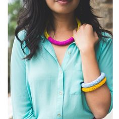 Blouses and beads #summer #color #shopsoko