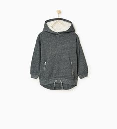 Image 1 of MAXI-LENGTH LINED SWEATSHIRT from Zara