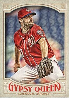 2016 Topps Gypsy Queen #131 Max Scherzer Washington Nationals Baseball Card
