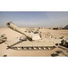 M1 Abrams tank at Camp Warhorse Canvas Art - Terry MooreStocktrek Images (18 x 12)