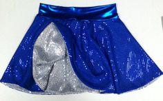 Double sparkle sequin Running skirt spandex lycra by suestevepat, $29.00