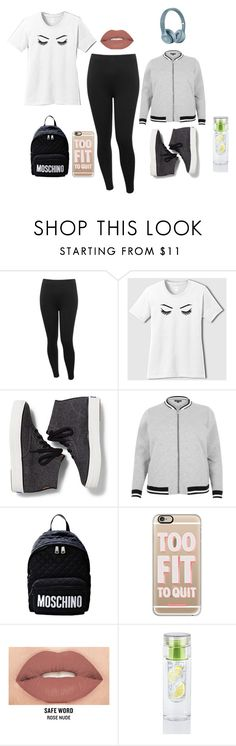 """""""Casual Everyday"""" by jose-gonzales-keller on Polyvore featuring M&Co, Keds, River Island, Moschino, Casetify, Smashbox, ootd, plussize and athlesiure"""