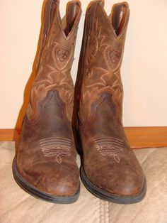 Vintage Leather Childrens Cowboy boots ARIAT 4LT by TheClassyLady, $27.00