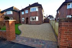 Stabilised Gravel driveway with tegula paving and rumble strip in Chester garden ideas driveway Pebble Driveway, Resin Driveway, Driveway Edging, Modern Driveway, Diy Driveway, Resin Patio, Stone Driveway, Gravel Driveway, Driveway Landscaping