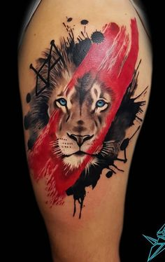Get to know some examples of representations of Lion tattoos, besides its . - Get to know some examples of representations of Lion tattoos, as well as their certain meaning thro - lion tattoo Lion Head Tattoos, Leo Tattoos, Dope Tattoos, Animal Tattoos, Body Art Tattoos, Tattoos For Guys, Tatoos, Trash Polka Tattoos, Tattoo Trash