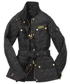 Womens Barbour International Quilted Jacket - Black