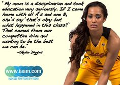 Skylar Diggins' compettive drive isn't limited just  to the basketball courts. #smartissexy