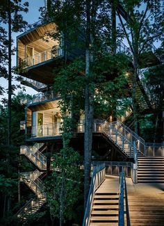 The Sustainability Treehouse, an interactive interpretive and gathering facility in the forest, was conceived and created as a unique icon of outdoor adventure, environmental stewardship and high performance building design.
