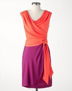 Cool colorblock dress $139.95