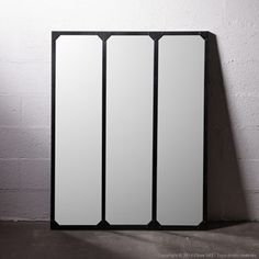 1000 images about miroir inspiration on pinterest for Miroir noir industriel