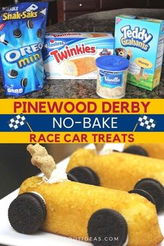 Easy DIY recipe for no-bake race car treats! Great for party or special occasion that kids can make for snack or dessert.