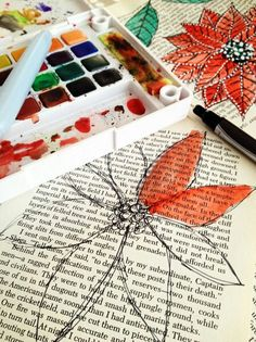 Love this i want to try it. it looks so pretty.Make sure you mix water or you'll probably destroy the page :P
