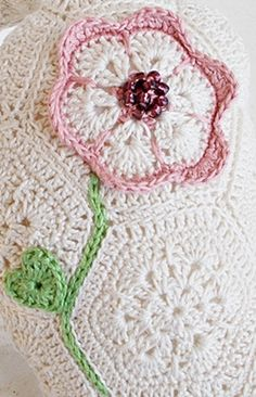 african flower heart pillow by  lella ✿ڰۣ—  the flower