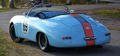 Porsche 356 Speedster Replica - Gulf Livery - back view