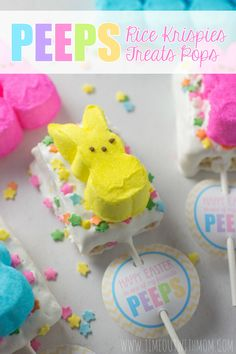 Timeout with Mom: PEEPS® Rice Krispies Treats Pops + Easter Printable
