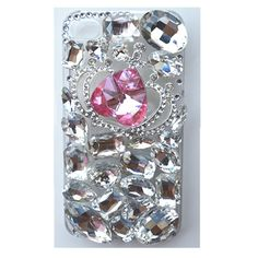 EVTECH(TM) for iPhone 6/iPhone 6s(4.7 inch) 3D Handmade Fashion Crystal Rhinestone Bling Case Cover Hard Case Clear(100% Handcrafted)