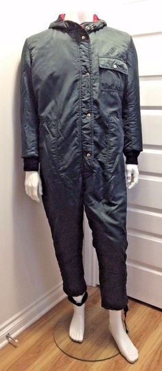 Vintage Dew Liner Insulated Skidoo Snowmobile Mens Snowsuit Canadian Made #DewLiner