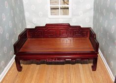 Dollhouse Oriental Style Bench Furniture Settee, Wood Bench Style Couch by AshleysSunroom on Etsy
