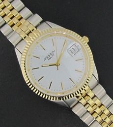 Ferro Jewelers - Watches   MENS TWO-TONE WATCH WITH ROUND FACE