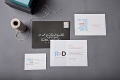 "Oh So Beautiful Paper: Ralph + Drew's ""Because We Love You"" Modern Wedding Invitations"