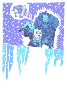 Winter Is Coming by Dan Hipp  #GameOfThrones | Game Of Thrones #CaptainAmerica #WinterSolider