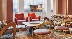 hotel lounge San Francisco Proper Hotel by Kelly Wearstler. Colourful mix of furnishings in hotel lounge Interior Design Blogs, Best Interior, Design Interiors, Estilo Hollywood Regency, European Furniture, Vintage Furniture, Outdoor Furniture Sets, Living Furniture, Vintage Rugs