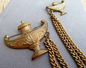 vintage wooden chatelaine brooches - Google Search