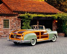 AUT 20 RK0240 03 - 1948 Chrysler Town & Country Woody Convertible ...