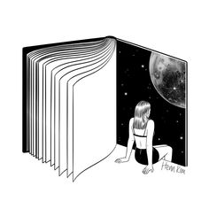Henn Kim: Reading is dreaming with your eyes open 책을 읽는다는 건 눈 뜬 채 꿈을 꾸는 것 . . . #reading #book #universe