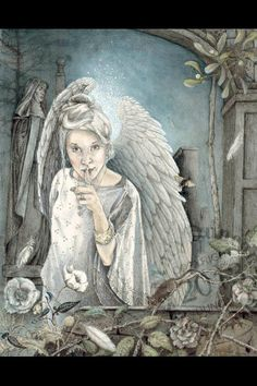 Shh… by Melissa Mary Duncan - Pencil, watercolour and gouache