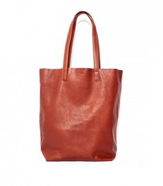 14 Stylish Carry-Ons For Every Budget via @WhoWhatWear Baggu Basic Leather Tote ($168)