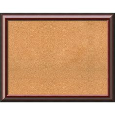 Framed Cork Board, Choose Your Custom Size, Cambridge Mahogany Wood (54 x 38-inch), Black