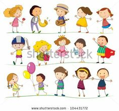 Illustration of mixed simple kids by Matthew Cole, via Shutterstock