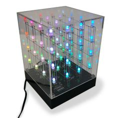 Buy LED Cube today at IWOOT. We have great prices on gifts, homeware and gadgets with FREE delivery available. Led Cube Arduino, Cubes, Visual Display, Discount Designer, Cool Gifts, Light Colors, Color Change, Different Colors, Branding Design