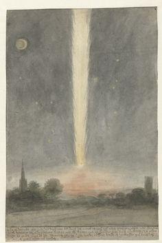 Staartster boven Beverwijk, 1680. Rijksmuseum, Public Domain marked.
