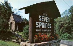 Historic Water Wheel, Seven Springs Mountain Resort Champion Pennsylvania.  Love the sleigh rides here....so fun!
