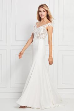0d7c9d2ee35 WTOO by Watters  Pierce V Neck Wedding Dress