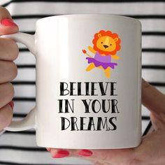 Glauben Sie an Ihre Träume-Becher schöne von missharry auf Etsy