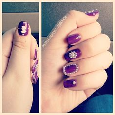 Purple Pearl and Cameo Nails - Cult Cosmetics Magazine