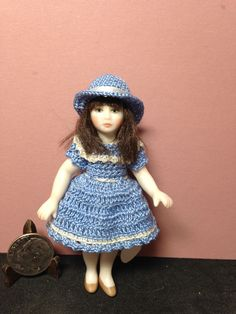 Bisque Doll, Crochet Clothes, Hand Crochet, Miniatures, Dolls, Hats, Handmade, Vintage, Style