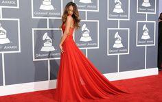 Rihanna in Azzedine Alaia at Grammy Awards 2013