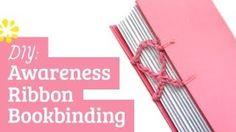 Sea Lemon - awareness ribbon bookbinding
