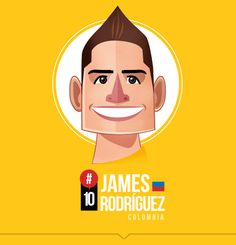 How good was his goal?  James - no.10 for Colombia  MI SELECCIÓN COLOMBIA by Edgar Rozo, via Behance